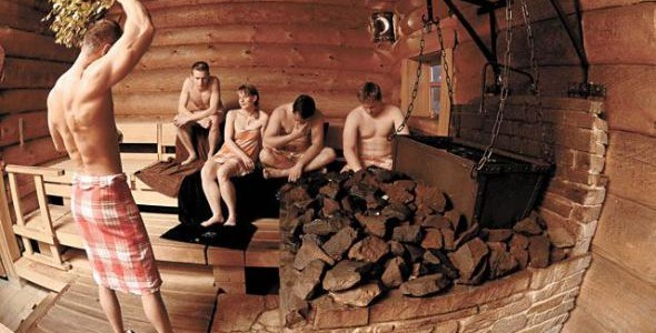 Russian Bath Bathhouse With Steam 64